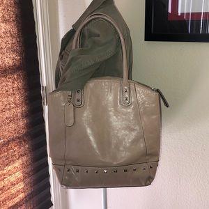 Cynthia Rowley tan leather tote